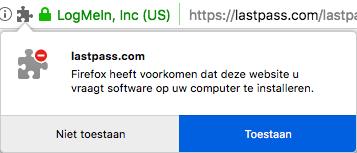 Lastpass browserextensie Firefox installeren