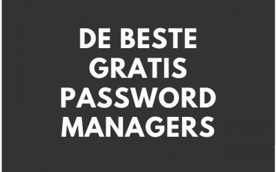 Wat is de beste gratis password manager?