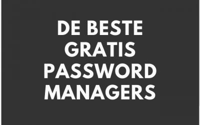 Wat is de beste gratis password manager?