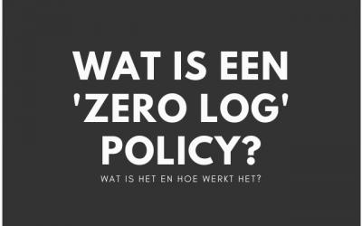 Wat is een 'zero log policy' bij VPN diensten?